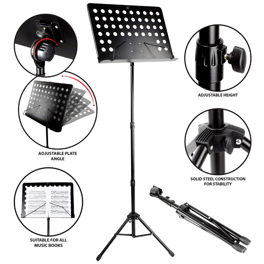 RockJam G905 Orchestral Conductor Sheet Stand